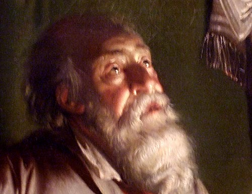 'The Alchymist' by Joseph Wright of Derby. Detail, by Gordon Stainforth. ... I know the feeling :)