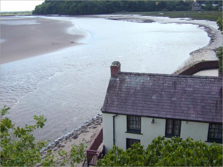 Dylan Thomas's Boat House above the 'heron-priested shore' at Laugharne, Carmathenshire. Photo: Freda Raphael