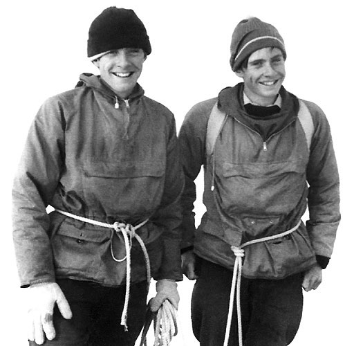 Gordon & John on the summit of the Zinal Rothorn (4,221 m) 1967. Photo: Heinrich Taugwalder