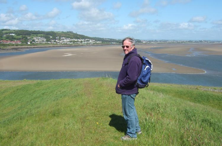 Gordon above the Loughor Estuary near Burry Port, Carmarthenshire. Photo: Freda Raphael