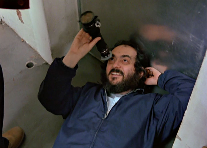 Stanley Kubrick directlng Jack Nicholson in a scene from Making The Shining