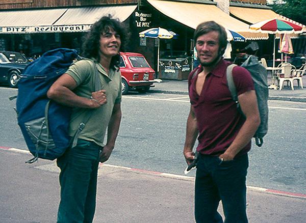 John Syrett and Gordon Stainforth, Chamonix, July 1972. @Andy Long