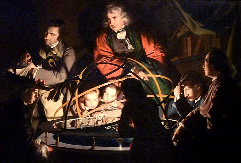 'The Orrery' by Joseph Wright of Derby. Photo: Gordon Stainforth