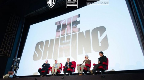 Interviewees on stage before The Shining screening: Garett Brown, Gordon Stainforth, Diane Johnson, Jan Harlan and interviewer Lee Unkrich.