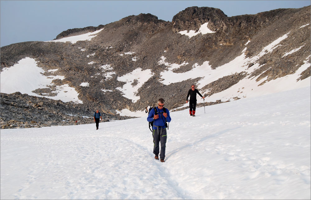 Gordon's farewell to Store Trolltind (and to serious mountaineering). Photo: John Stainforth