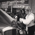 Tony Britton as Beethoven at a garage in Hillingdon