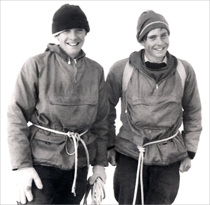 Gordon and John Stainforth on the summit of the Zinalrothorn, August 30, 1967. Photo: Heinrich Taugwalder