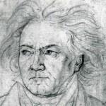 Beethoven pencil sketch by Kloeber