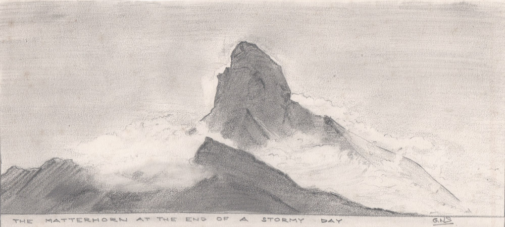 Sketch by Gordon Stainforth, Zermatt, 1967
