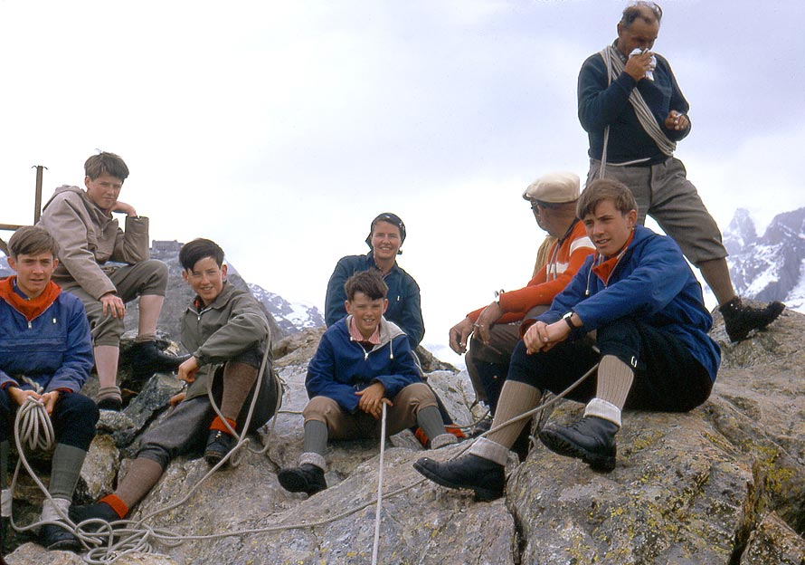 On summit of Riffelhorn, 1966