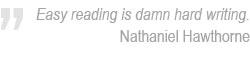 Nathaniel Hawthorne on writing