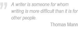 Thomas Mann on writing