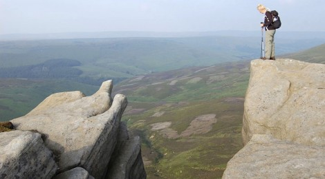 Freda above Fairbrook, Kinder Scout, 2009
