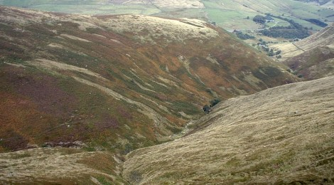 View north from Seal Edge, Kinder Scout