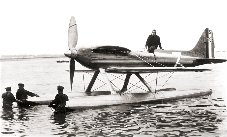 George Stainforth in the Supermarine S6B shortly before breaking the world speed record in September 1931