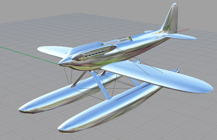 One of John Stainforth's CAD drawings of his 1/5th scale Supermarine S6B