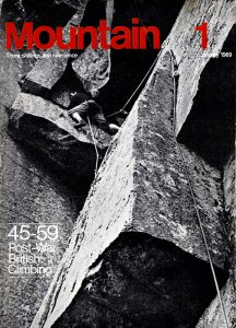 The ground-breaking Mountain magazine, first issue, January 1969